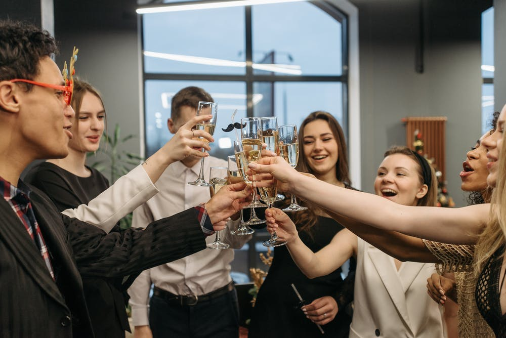 People Doing A Toast